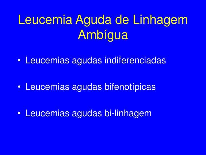 Leucemia Aguda de Linhagem Ambígua