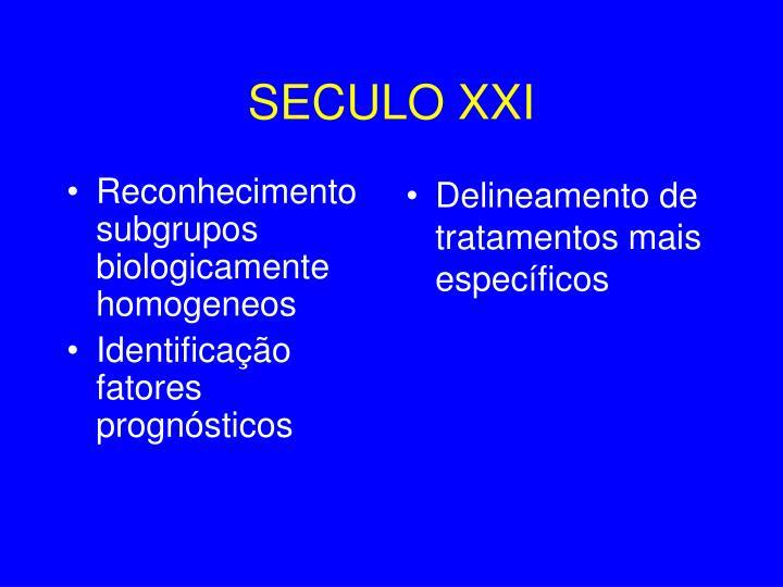 Reconhecimento subgrupos biologicamente homogeneos