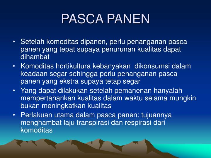 PASCA PANEN