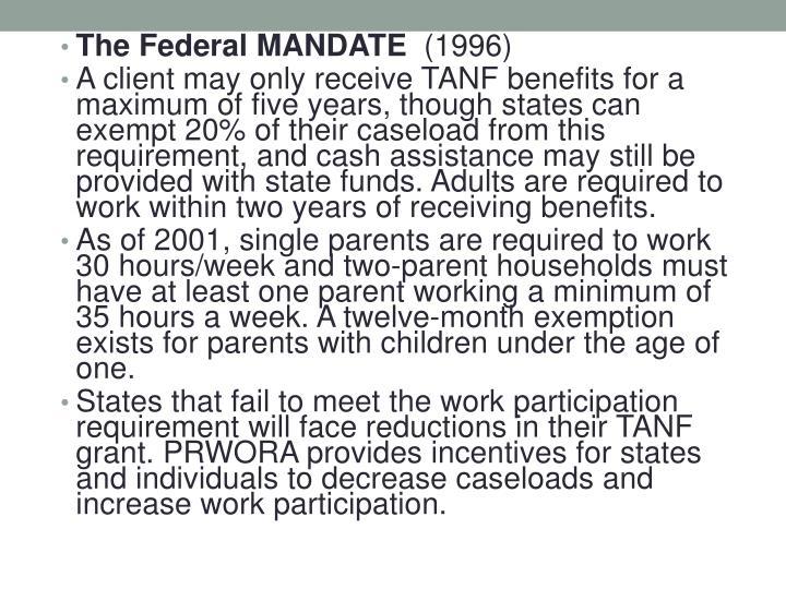 The Federal MANDATE