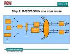 step 2 b isdn onus and coax reuse