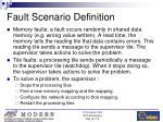 fault scenario definition