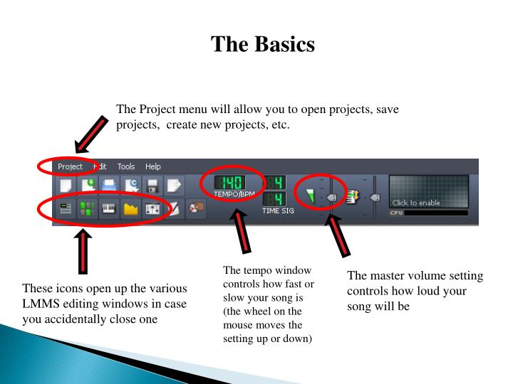 PPT - LMMS is a digital audio workstation that allows you to