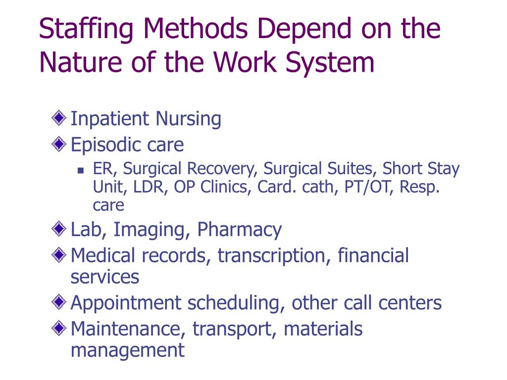 PPT - Staffing and Scheduling – Part I PowerPoint