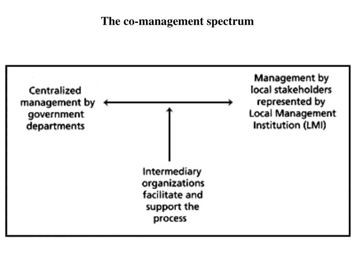 The co-management spectrum