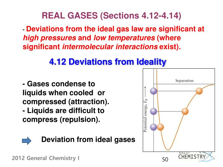 REAL GASES (Sections 4.12-4.14)