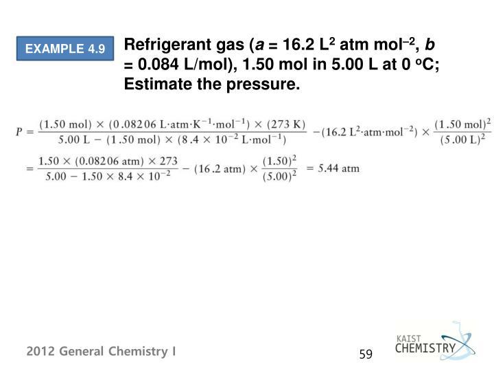 Refrigerant gas (