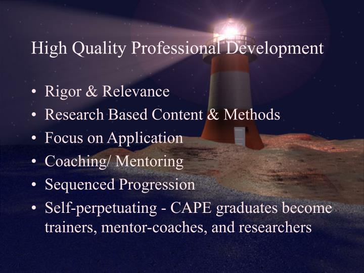 High Quality Professional Development