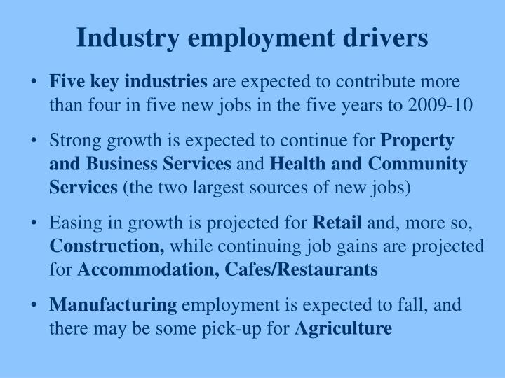 Industry employment drivers