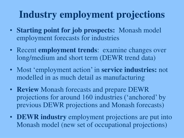Industry employment projections