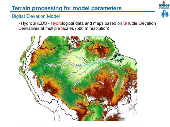 Terrain processing for model parameters
