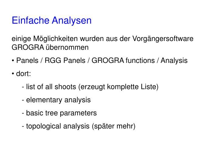 Einfache Analysen