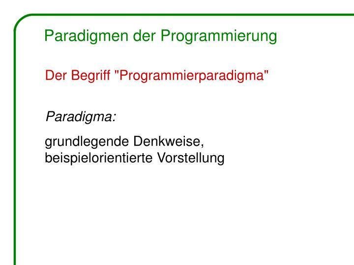 Paradigmen der Programmierung