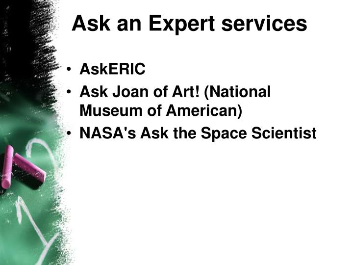 Ask an Expert services