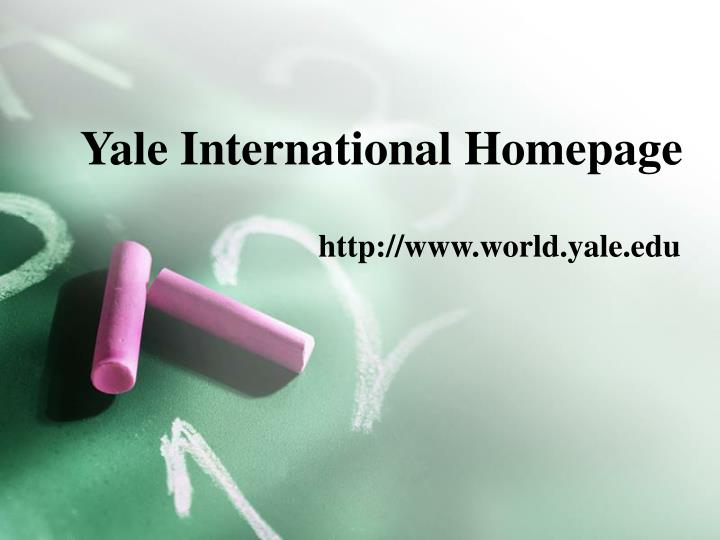 Yale International Homepage