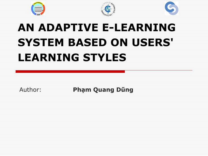an adaptive e learning system based on users learning styles n.