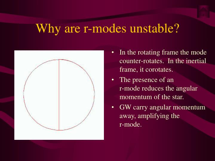 Why are r-modes unstable?