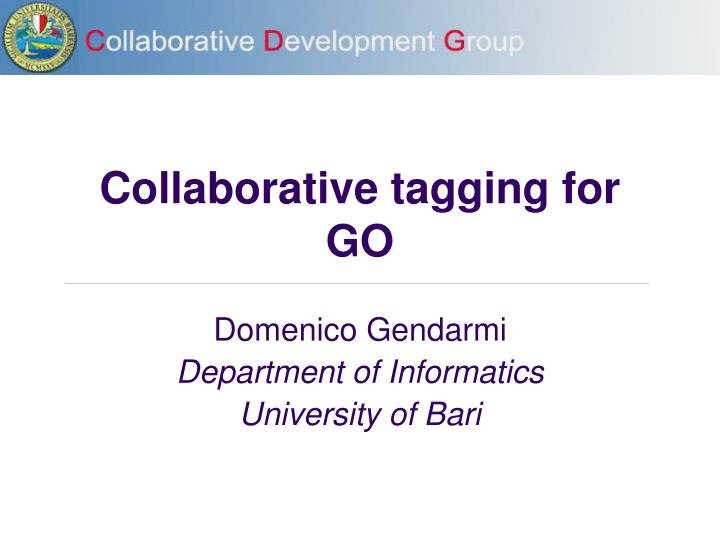collaborative tagging for go n.