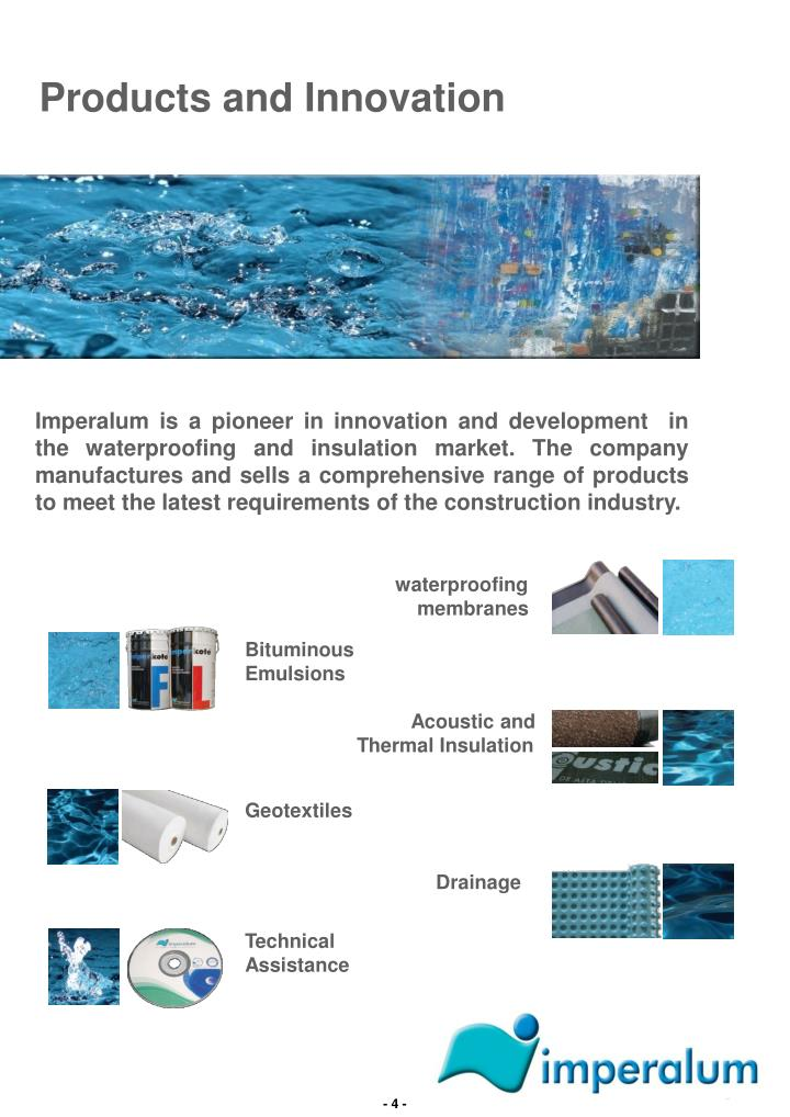 Products and Innovation