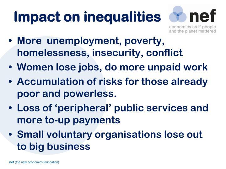 Impact on inequalities