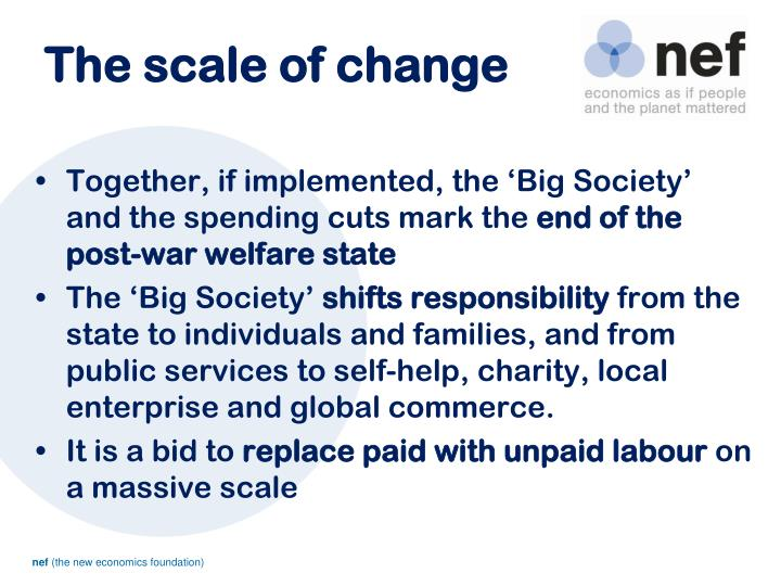 The scale of change