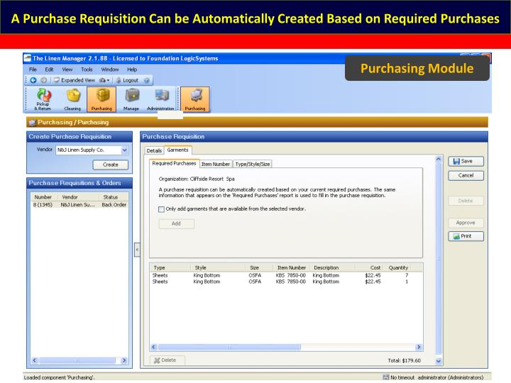 A Purchase Requisition Can be Automatically Created Based on Required Purchases