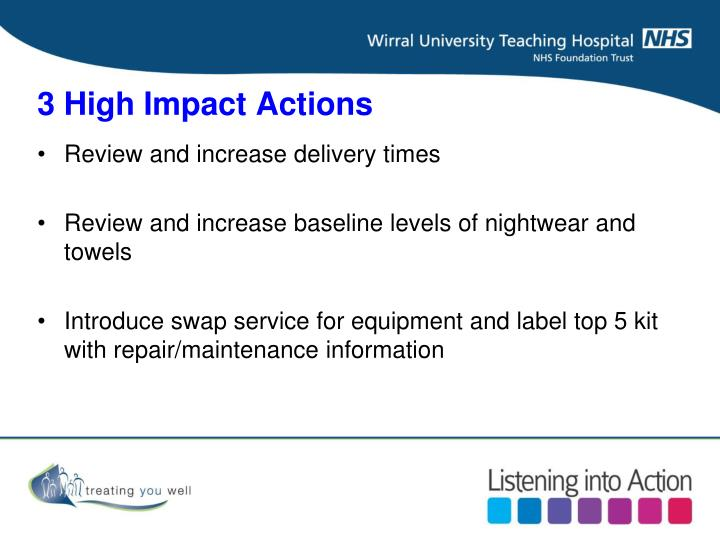 3 High Impact Actions