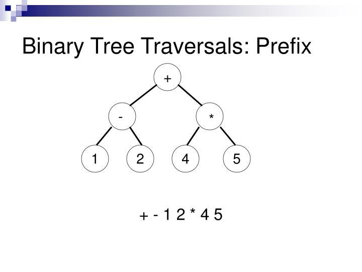 Binary Tree Traversals: Prefix