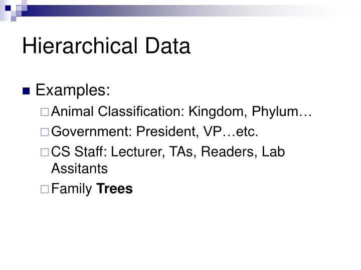 Hierarchical Data