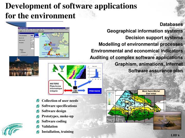 Development of software applications