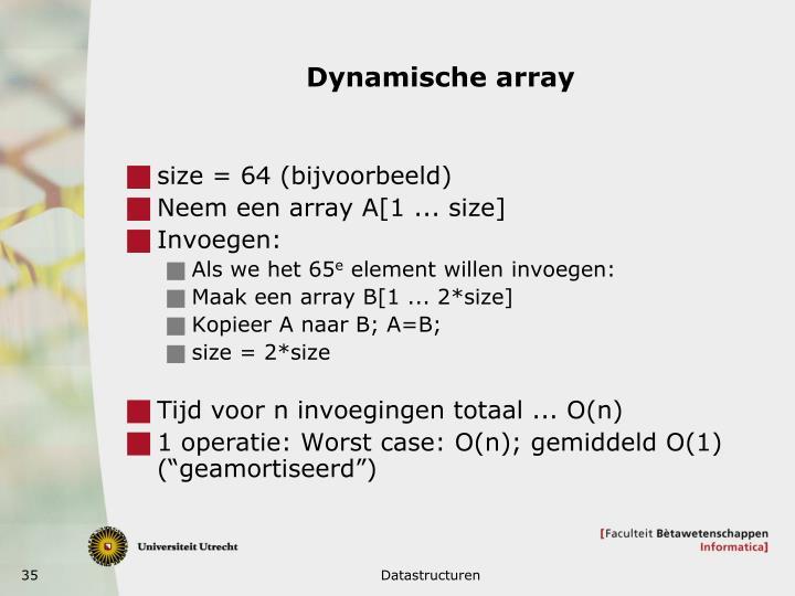 Dynamische array