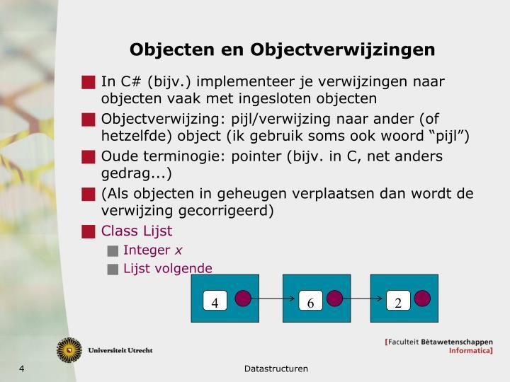 Objecten en Objectverwijzingen