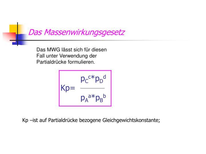 das massenwirkungsgesetz - Massenwirkungsgesetz Beispiel