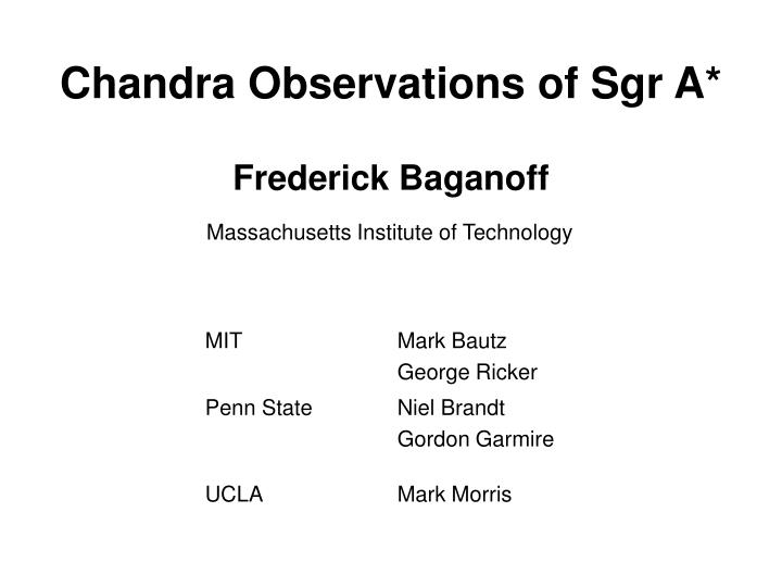 chandra observations of sgr a n.
