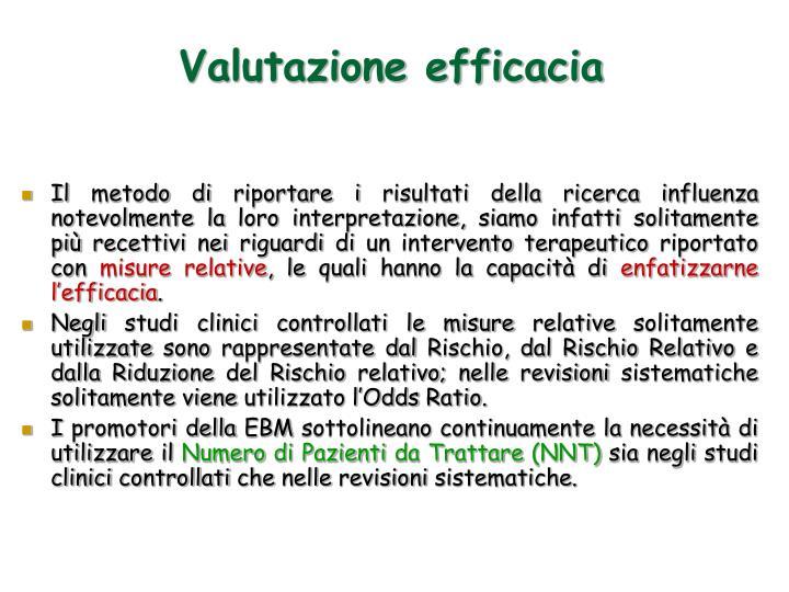 Valutazione efficacia