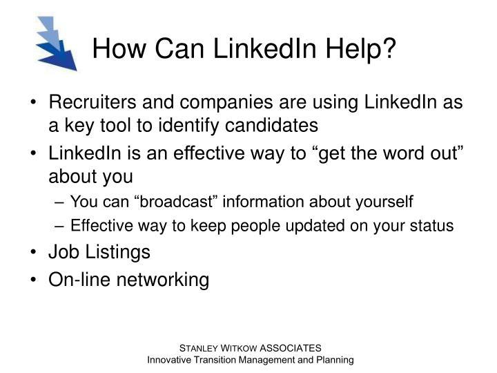 How can linkedin help