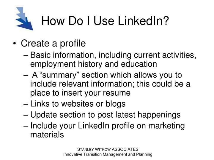 How do i use linkedin