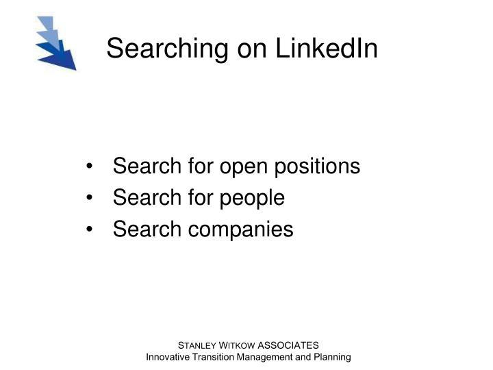 Searching on LinkedIn
