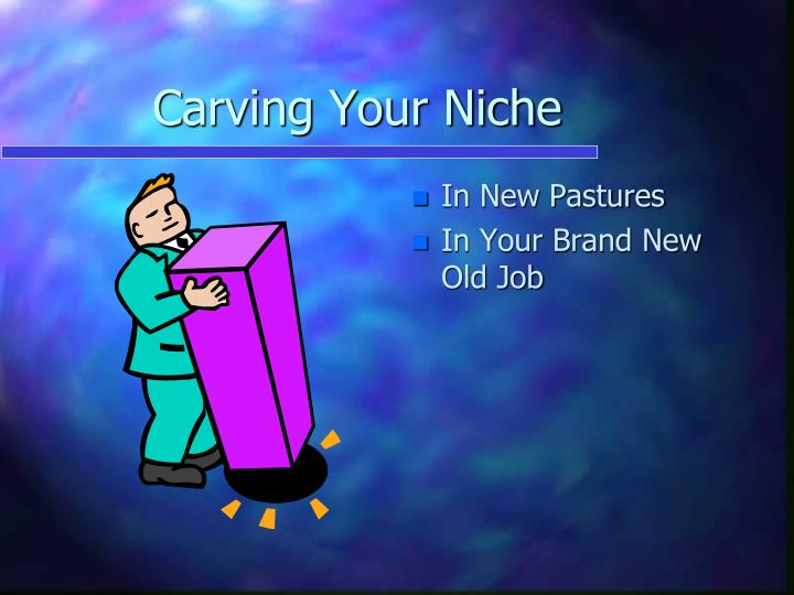 Carving your niche