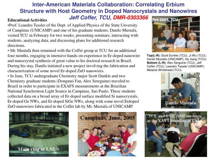 Inter-American Materials Collaboration: Correlating Erbium