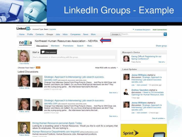 LinkedIn Groups - Example