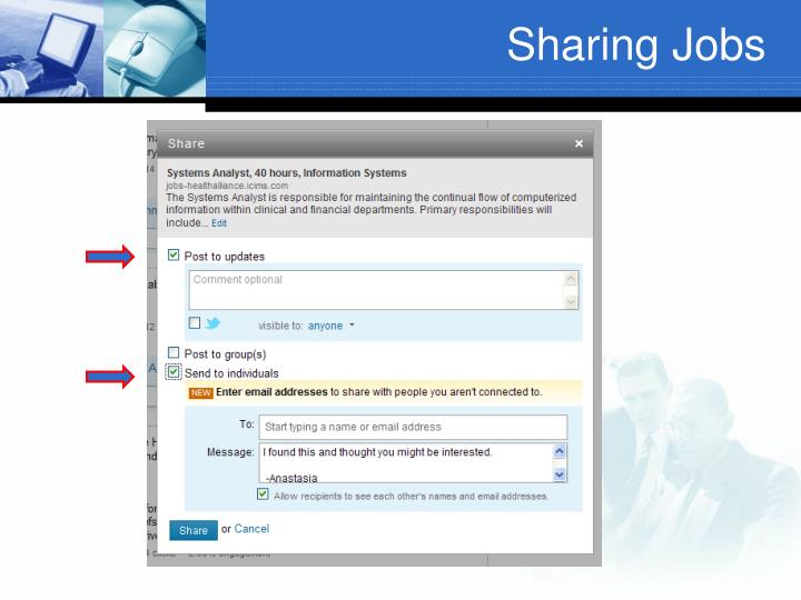 Sharing Jobs