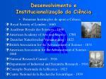 desenvolvimento e institucionaliza o da ci ncia3