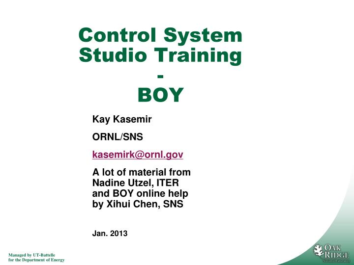 control system studio training boy n.