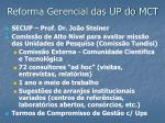 reforma gerencial das up do mct1