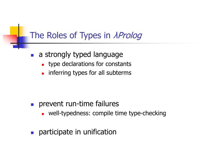 The Roles of Types in