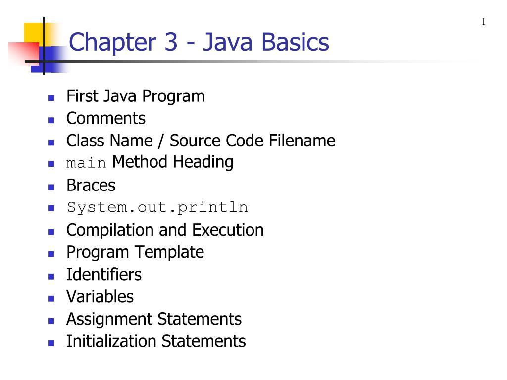 Ppt Chapter 3 Java Basics Powerpoint Presentation Id4206394