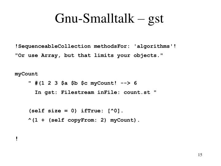 Gnu-Smalltalk – gst