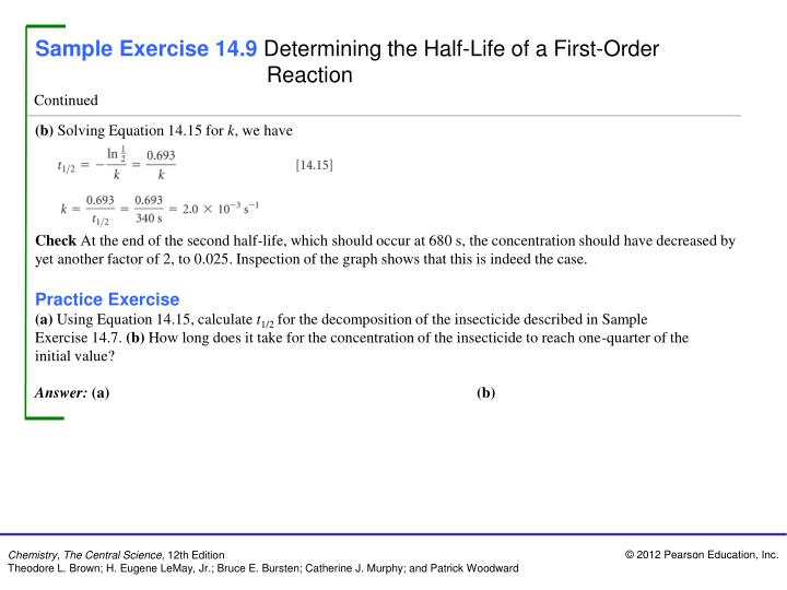 Sample Exercise 14.9