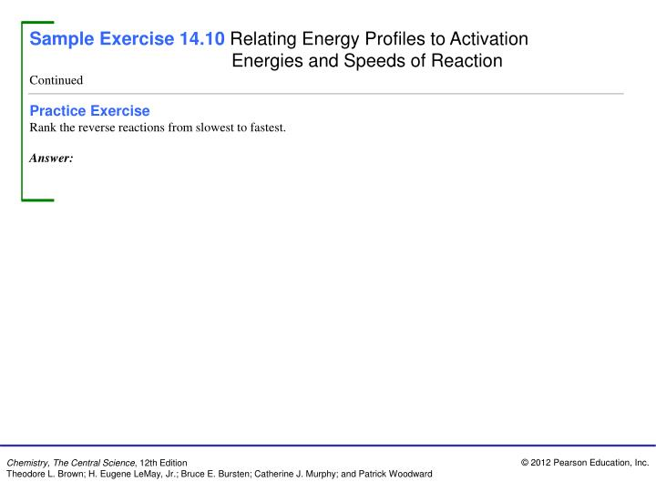 Sample Exercise 14.10